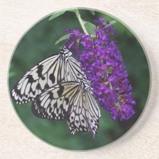 Pair of Paper Kite Butterflies Coaster