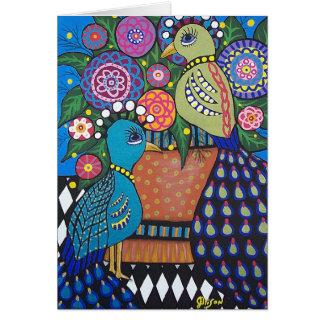 Pair of Peacocks Customizable Greeting Card