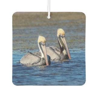Pair of Pelicans Car Air Freshener