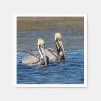 Pair of Pelicans Disposable Napkin