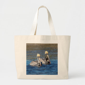 Pair of Pelicans Large Tote Bag