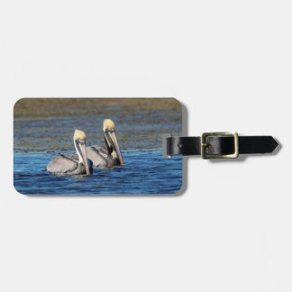 Pair of Pelicans Luggage Tag