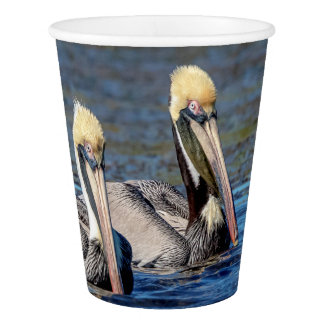 Pair of Pelicans Paper Cup