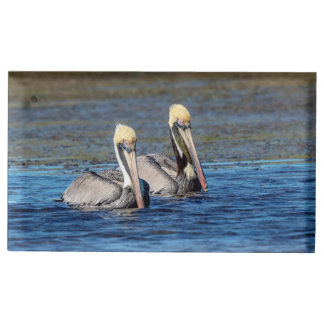 Pair of Pelicans Place Card Holder
