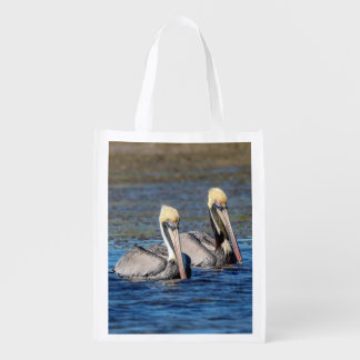 Pair of Pelicans Reusable Grocery Bag