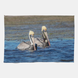 Pair of Pelicans Tea Towel