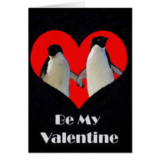 Pair of Penguins Valentine s Day Card