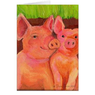 Pair of Pig Pals Card