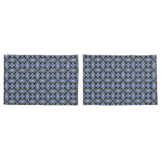 Pair of Pillowcases Blue Multicolor Pattern