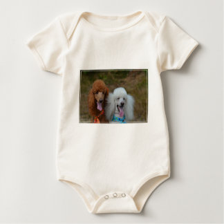 Pair of Poodles Baby Bodysuit
