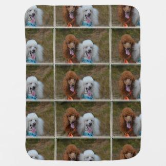 Pair of Poodles Receiving Blankets