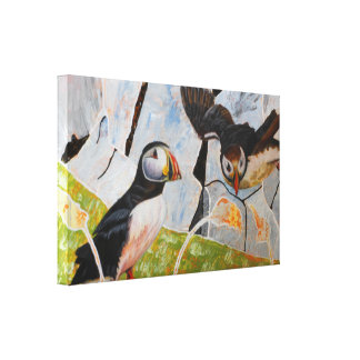 Pair of Puffins Canvas Print
