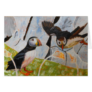 Pair of Puffins Card