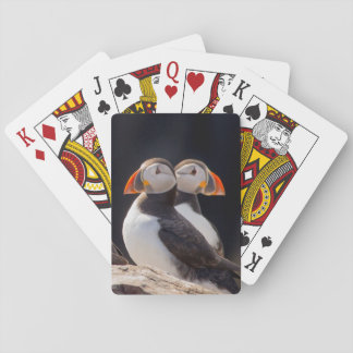 Pair of Puffins Playing Cards