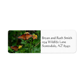pair of Queens return address label