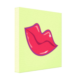 Pair of Red Lips Canvas Print