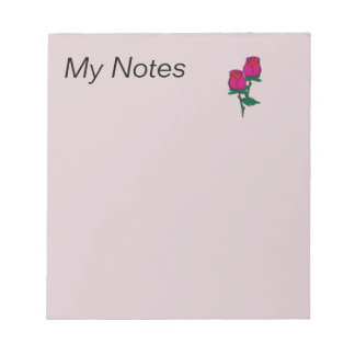 Pair of red roses notepad