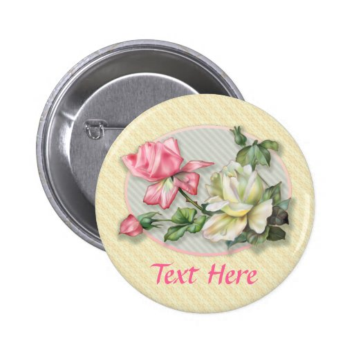 Pair of Roses Pinback Button