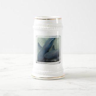 Pair of Sharks Beer Stein Coffee Mug