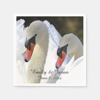 Pair of Swans Disposable Napkins