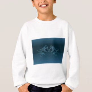 PAIR of SWIMMING SWAN by SHARON SHARPE Sweatshirt