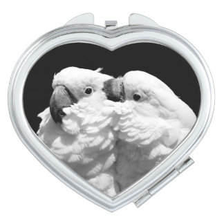 Pair of umbrella cockatoos compact mirror