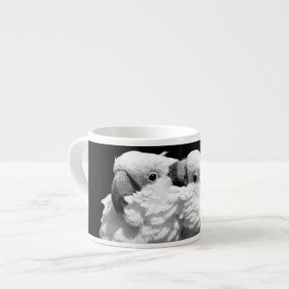 Pair of umbrella cockatoos espresso cup