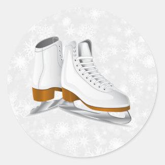 pair of white ice skates sticker