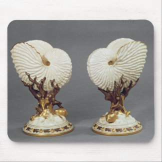 Pair of Worcester vases shaped as Nautilus Mouse Pad