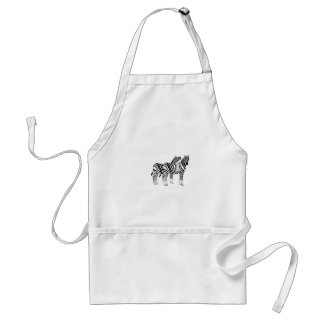 Pair of Zebras on multiple products Standard Apron