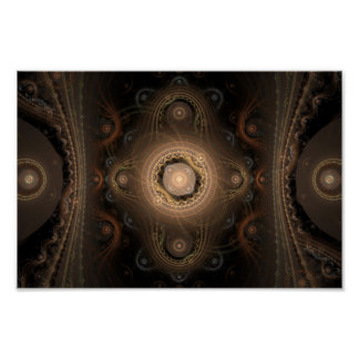 Paisley Abstract Fractal Design Poster