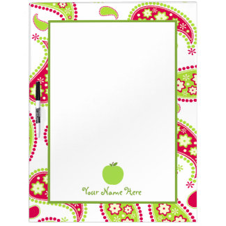 Paisley & Apple Large Dry Erase Board For Teachers