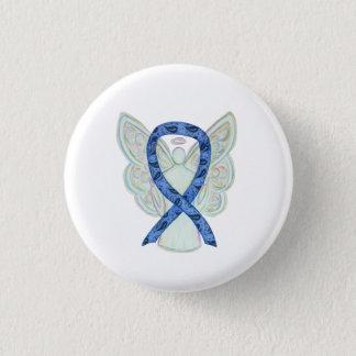 Paisley Awareness Ribbon Angel Art Pin Buttons