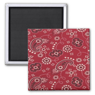 Paisley Bandana Design Fridge Magnet