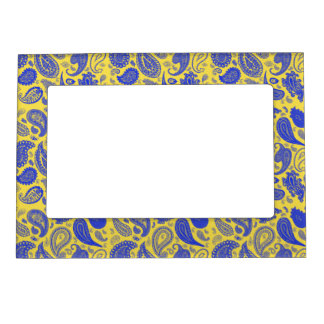 Paisley Blue Photo Frame by Julie Everhart