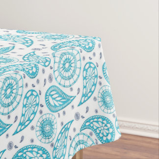Paisley blue seamless pattern. tablecloth