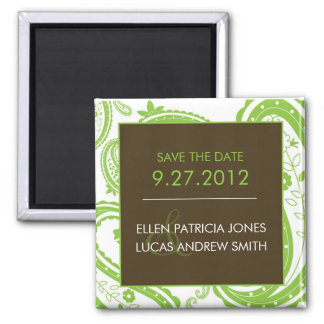 Paisley Border - Save The Date Magnet