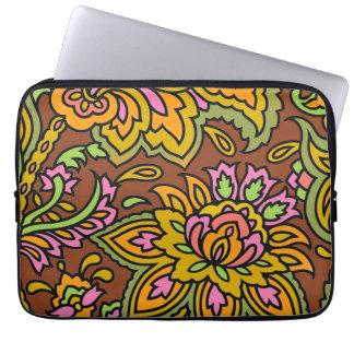 Paisley Brown Laptop Sleeve