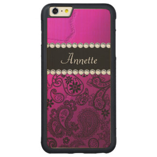 Paisley Carved Maple iPhone 6 Plus Bumper Case