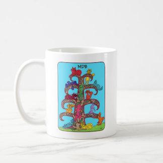Paisley Cat Tree of Life Custom Monogram Coffee Mug