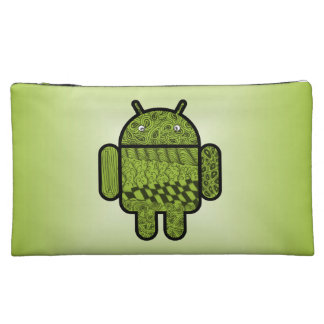 Paisley Character for the Android™ Robot Makeup Bag