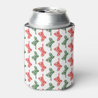 Paisley Christmas Stockings Can Cooler