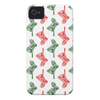 Paisley Christmas Stockings iPhone 4 Cases