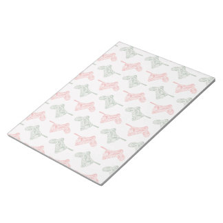 Paisley Christmas Stockings Notepad