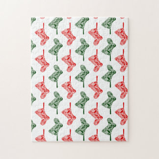 Paisley Christmas Stockings Puzzle