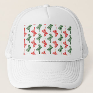 Paisley Christmas Stockings Trucker Hat
