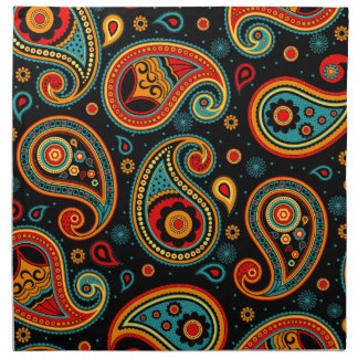 Paisley  colorful elegant napkin
