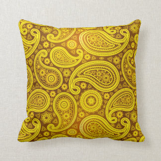 Paisley Deluxe | yellow Throw Cushion