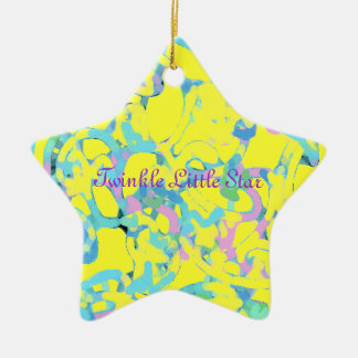 Paisley Design Double-Sided Star Ceramic Christmas Ornament