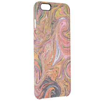 PAISLEY DESIGN/DIG.MANIP/PINKS,PEACH, YELLOW,GREEN CLEAR iPhone 6 PLUS CASE